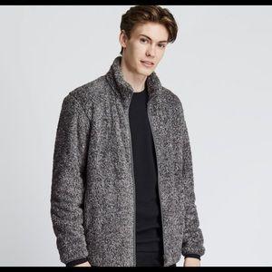 Uniqlo Men's yarn fleece zip up